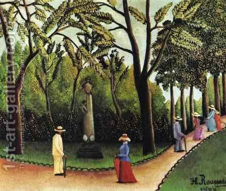 Luxembourg Garden by Henri Julien Rousseau - Reproduction Oil Painting