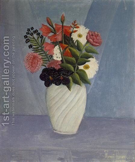 Bouquet of Flowers III by Henri Julien Rousseau - Reproduction Oil Painting