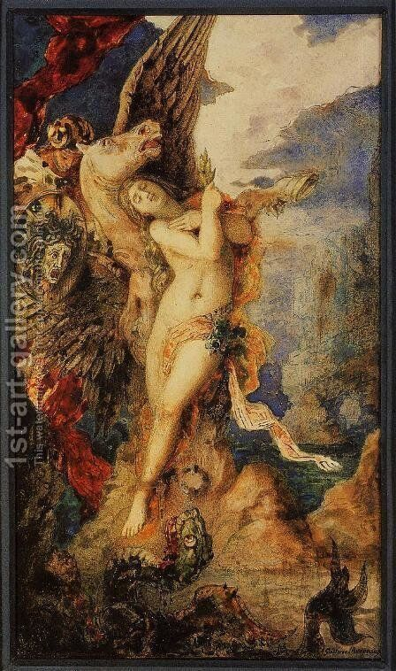 Perseus and Andromeda by Gustave Moreau - Reproduction Oil Painting