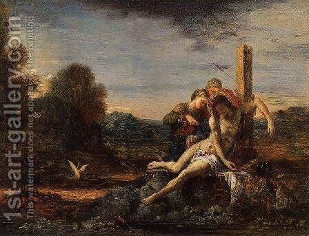 Saint Sebastian being Tended by Saintly Women by Gustave Moreau - Reproduction Oil Painting
