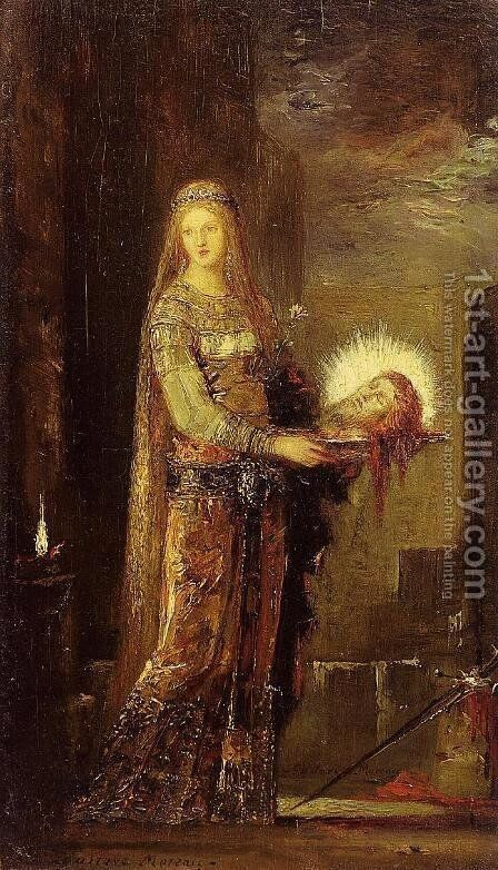 Salome Carrying the Head of John the Baptist on a Platter by Gustave Moreau - Reproduction Oil Painting