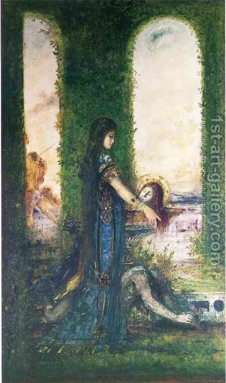 Salome in the Garden by Gustave Moreau - Reproduction Oil Painting