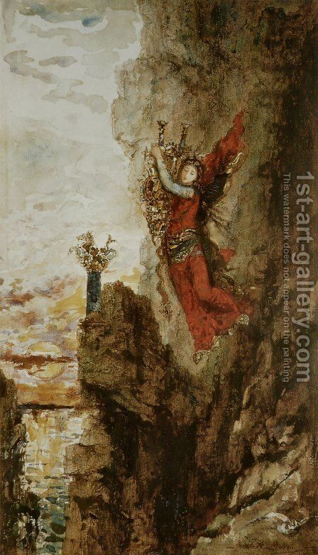 Sappho Leaping into the Sea by Gustave Moreau - Reproduction Oil Painting