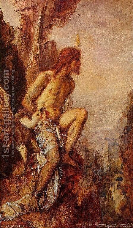 Prometheus in Chains by Gustave Moreau - Reproduction Oil Painting