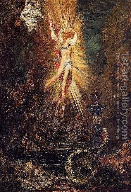 Apollo Vanquishing the Serpent Python by Gustave Moreau - Reproduction Oil Painting