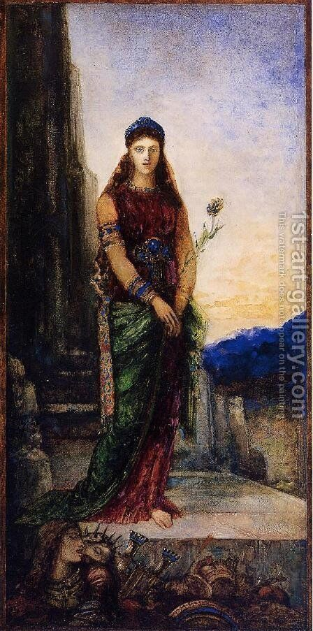 Helen on the Walls of Troy by Gustave Moreau - Reproduction Oil Painting