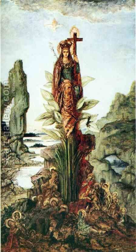 Mystical Flower by Gustave Moreau - Reproduction Oil Painting