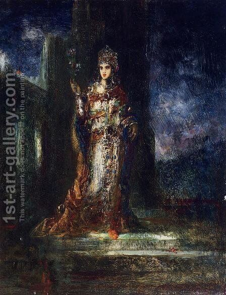 The Fiancee of the Night by Gustave Moreau - Reproduction Oil Painting