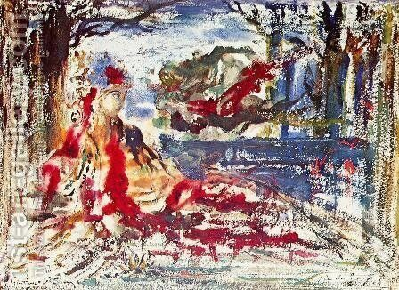 Near the Water by Gustave Moreau - Reproduction Oil Painting