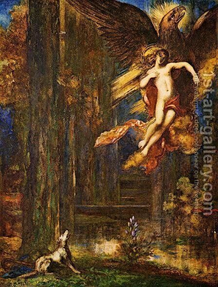 The Raising of Ganamede by Gustave Moreau - Reproduction Oil Painting
