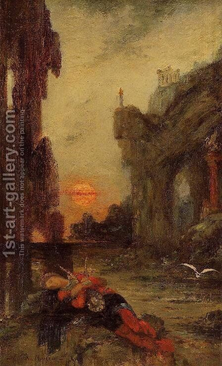 The Death of Sappho by Gustave Moreau - Reproduction Oil Painting