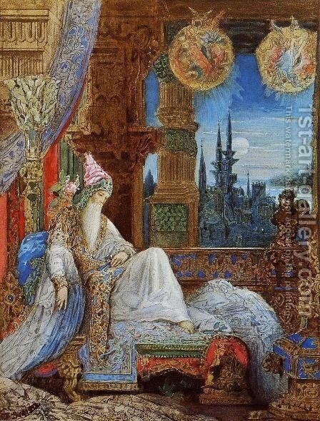The Dream Haunting the Mogul by Gustave Moreau - Reproduction Oil Painting