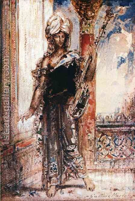 An Arabian Singer by Gustave Moreau - Reproduction Oil Painting
