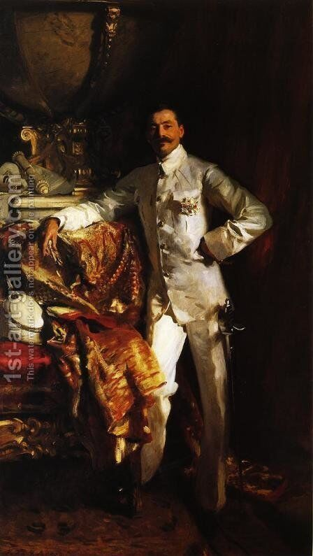 Sir Frank Swettenham by Sargent - Reproduction Oil Painting