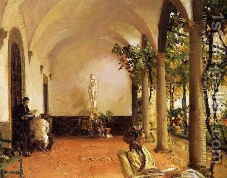 Villa Torre Galli: The Loggia by Sargent - Reproduction Oil Painting