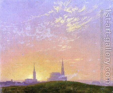 Abend by Caspar David Friedrich - Reproduction Oil Painting