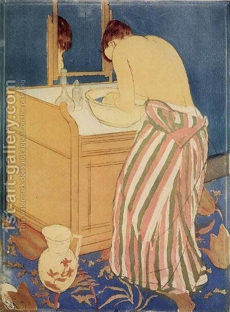 The Bath I by Mary Cassatt - Reproduction Oil Painting