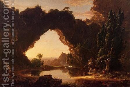 An Evening in Arcadia by Thomas Cole - Reproduction Oil Painting