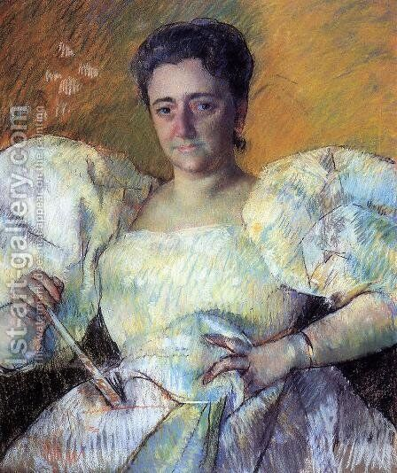 Portrait of Mrs. H. O. Hevemeyer by Mary Cassatt - Reproduction Oil Painting