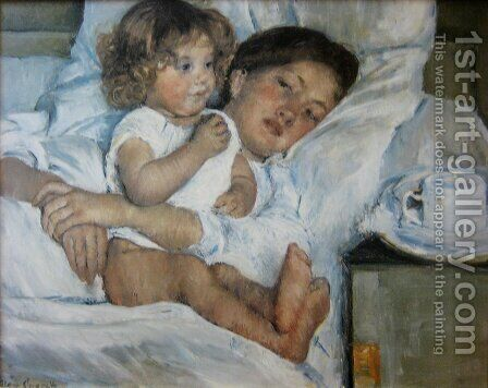 Breakfast in Bed by Mary Cassatt - Reproduction Oil Painting
