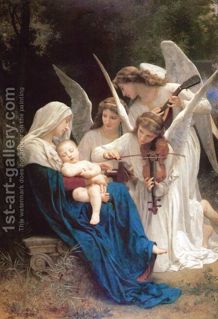 Song of the Angels by William-Adolphe Bouguereau - Reproduction Oil Painting