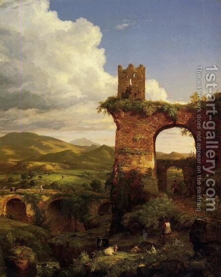 Arch of Nero by Thomas Cole - Reproduction Oil Painting
