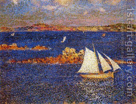 Near the Rocks of Per-Kiridec by Theo van Rysselberghe - Reproduction Oil Painting