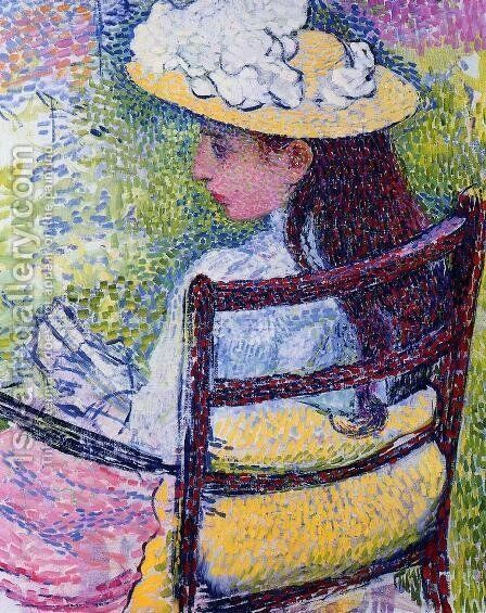 Portrait of Jeanne Pissarro by Theo van Rysselberghe - Reproduction Oil Painting