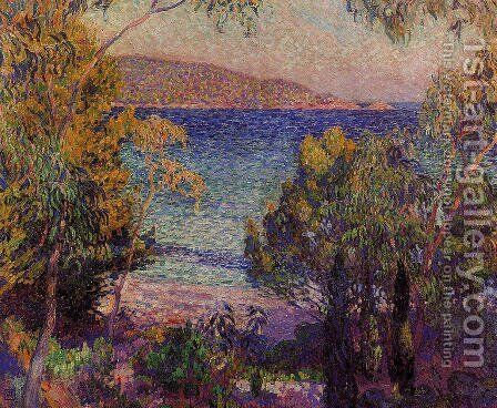 Pines and Eucalyptus at Cavelieri by Theo van Rysselberghe - Reproduction Oil Painting