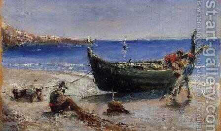 Fishing Boat by Toulouse-Lautrec - Reproduction Oil Painting