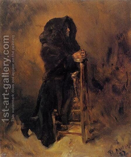 Woman in Prayer by Toulouse-Lautrec - Reproduction Oil Painting