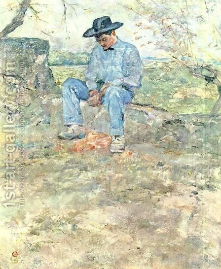 Young Routy at Celeyran by Toulouse-Lautrec - Reproduction Oil Painting