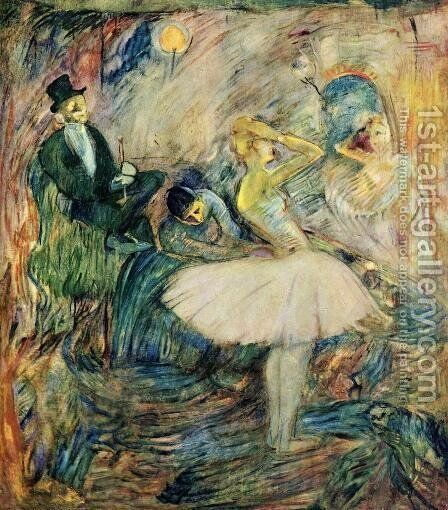 The Dancer in Her Dressing Room by Toulouse-Lautrec - Reproduction Oil Painting