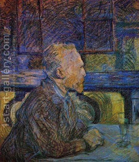 Vincent van Gogh by Toulouse-Lautrec - Reproduction Oil Painting