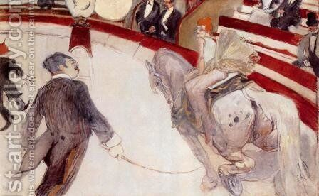 At the Cirque Fernando: The Ringmaster by Toulouse-Lautrec - Reproduction Oil Painting