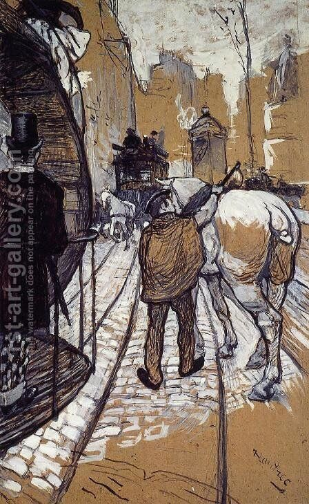 Workers for the Bus Company by Toulouse-Lautrec - Reproduction Oil Painting