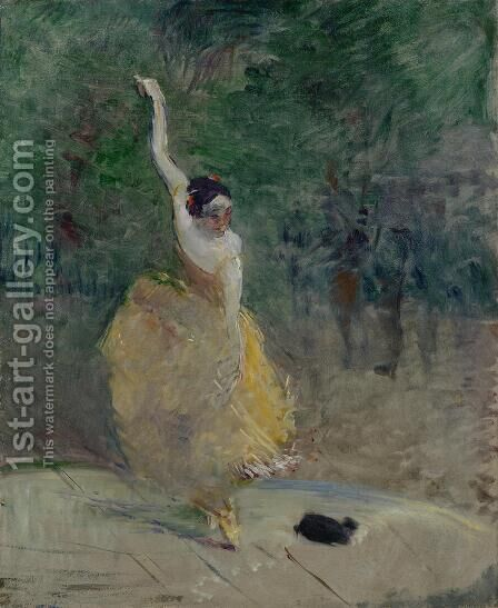 The Spanish Dancer by Toulouse-Lautrec - Reproduction Oil Painting