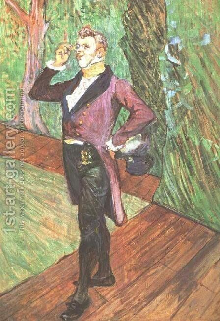 Portrait of M. Samary by Toulouse-Lautrec - Reproduction Oil Painting