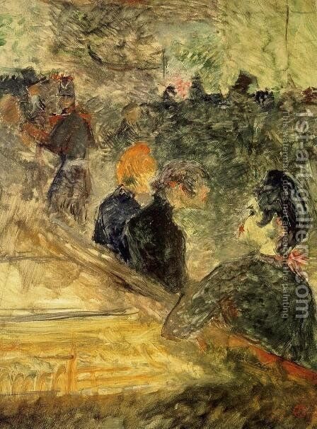 A Ball at the Moulin de la Galette by Toulouse-Lautrec - Reproduction Oil Painting