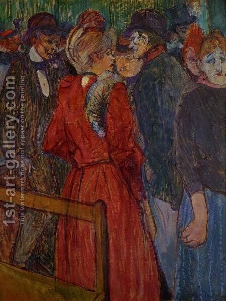 At the Moulin de la Galette by Toulouse-Lautrec - Reproduction Oil Painting
