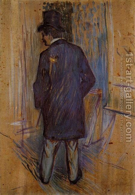 Monsieur Louis Pascal from the Rear by Toulouse-Lautrec - Reproduction Oil Painting