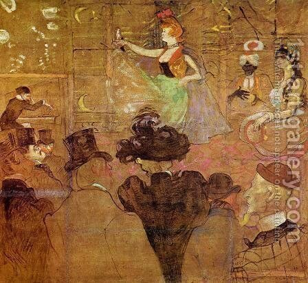 La Goulue Dancing by Toulouse-Lautrec - Reproduction Oil Painting