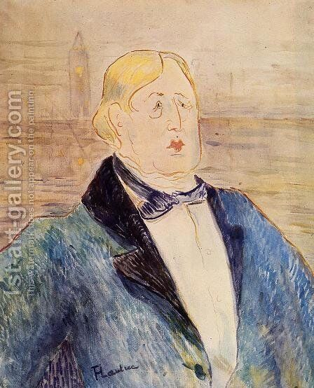 Oscar Wilde by Toulouse-Lautrec - Reproduction Oil Painting