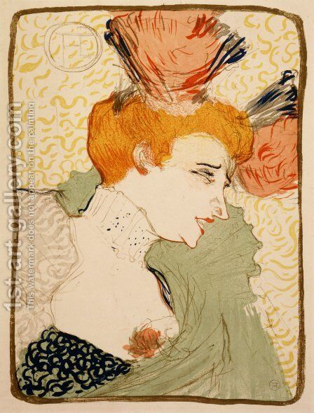 The Actress Marcelle Lender by Toulouse-Lautrec - Reproduction Oil Painting