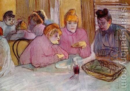Woman in a Brothel by Toulouse-Lautrec - Reproduction Oil Painting