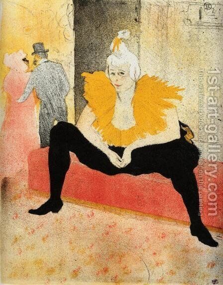 Elles: Cha-U-Kao, Chinese Clown, Seated by Toulouse-Lautrec - Reproduction Oil Painting