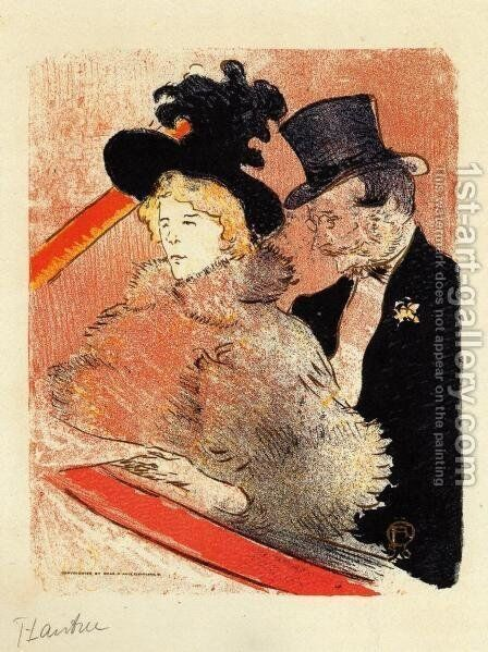 At the Concert by Toulouse-Lautrec - Reproduction Oil Painting