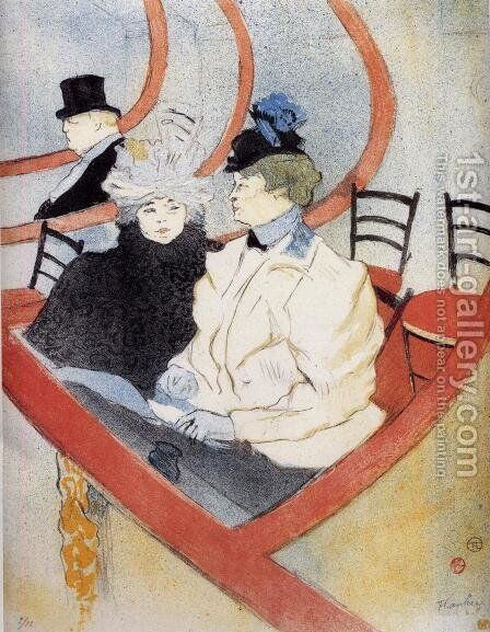 Box in the Grand Tier by Toulouse-Lautrec - Reproduction Oil Painting