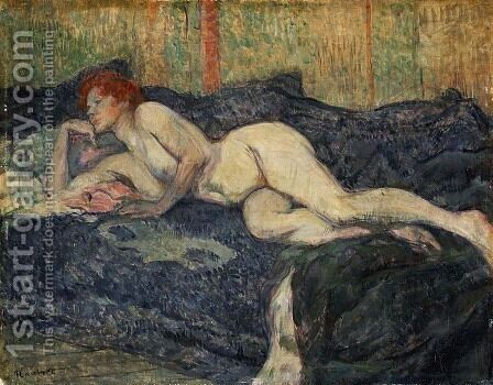 Reclining Nude by Toulouse-Lautrec - Reproduction Oil Painting