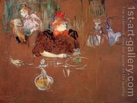 Dinner at the House of M. and Mme. Nathanson by Toulouse-Lautrec - Reproduction Oil Painting